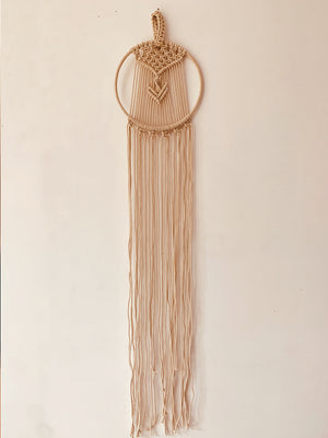 Macrame wall decor round loop