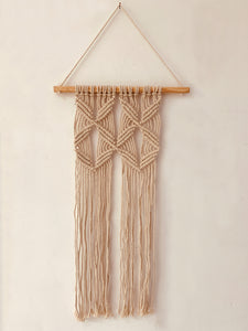 Macrame Pattern knots Dowel Wall Hanging Decor