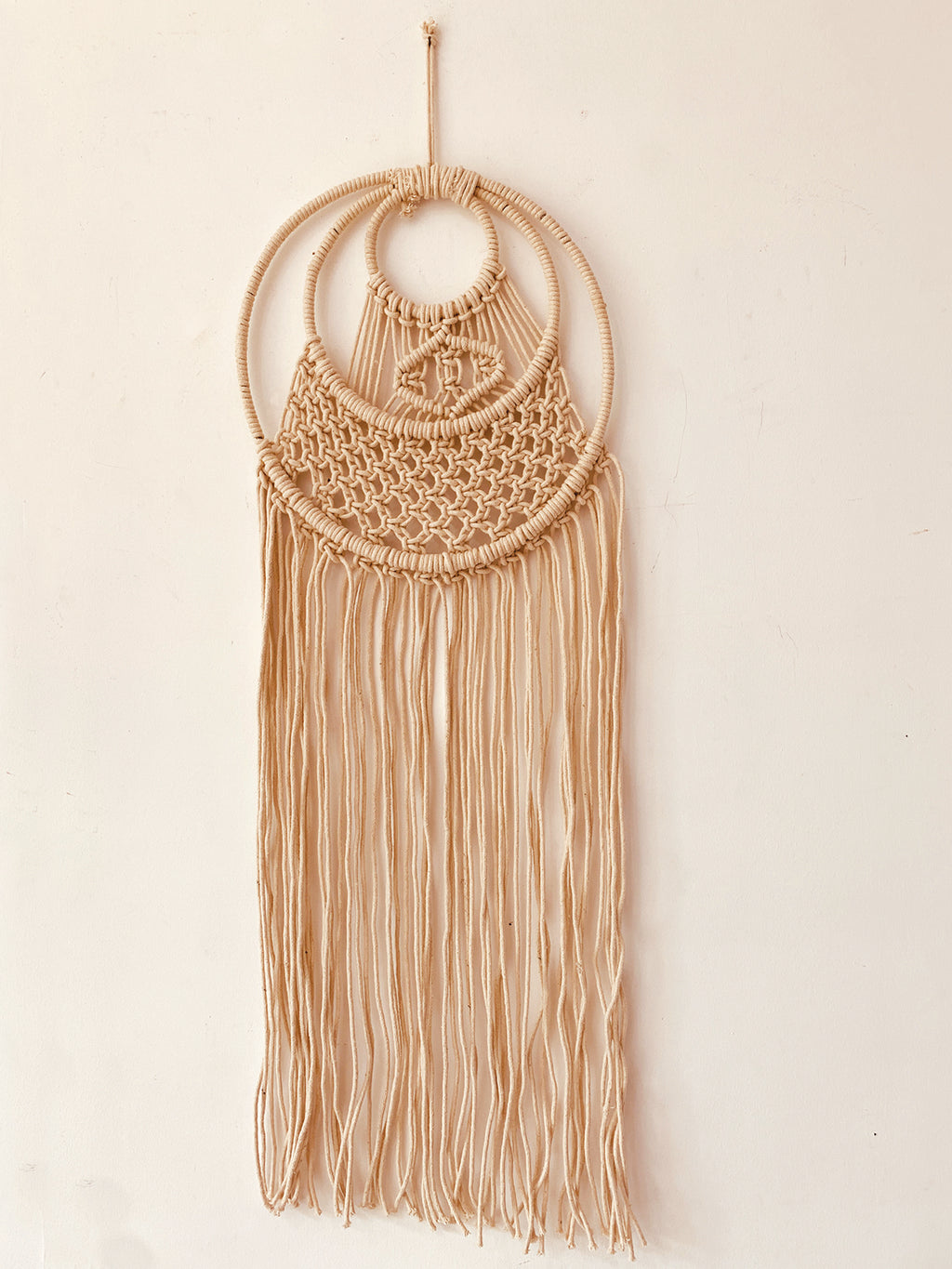 Macrame with 3 Ring wall  Decor