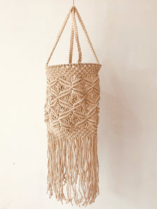 Macrame Bohemian Cylindrical Long Lamp