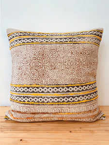 Off white  embroidered print cushion cover 45 * 45 cm