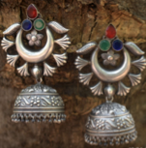 Earrings Stone small Jhumka Danglers