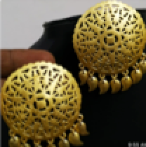 Earrings Gold circular