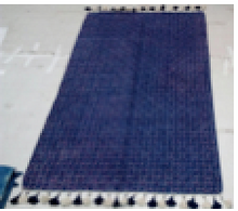 Load image into Gallery viewer, Indigo Pompom rugs  4*6