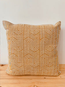Yellow printed cushion cover 50X50
