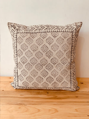 Ecru  printed cushion Cover 45X45