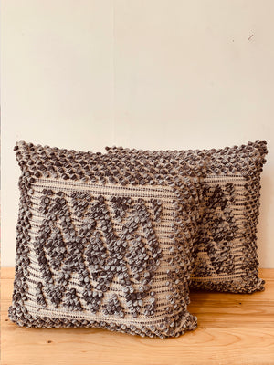 Woven blue textured cushion cover 45*45 cms