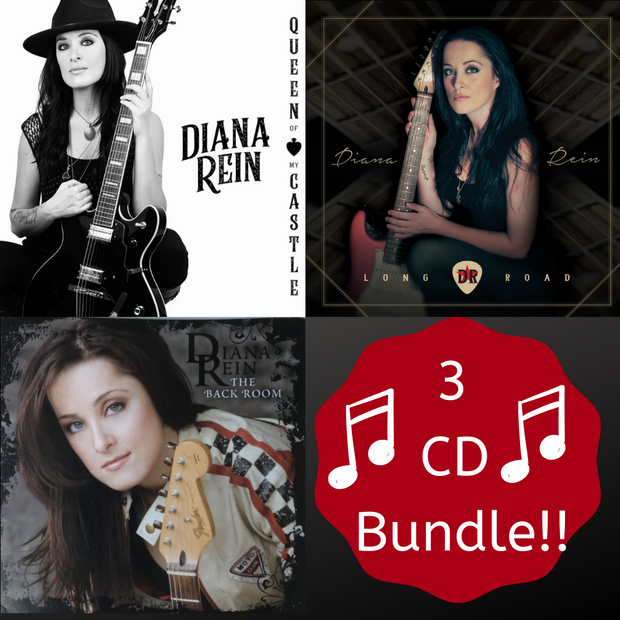 3 CD Bundle! Queen of My Castle, Long Road, The Back Room- Autographed Copies and Personalized with your name