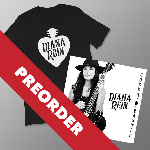 PREORDER BUNDLE (CD+Shirt): Queen of my Castle (2019) - Autographed CD and Personalized with your Name + DR Spade Black Shirt Unisex