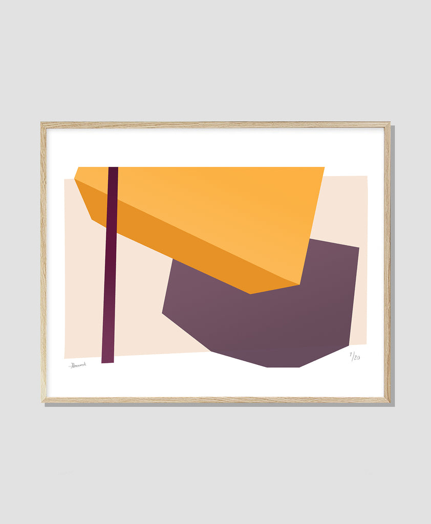 Shapes & Shadows – Orange Purple No. 1