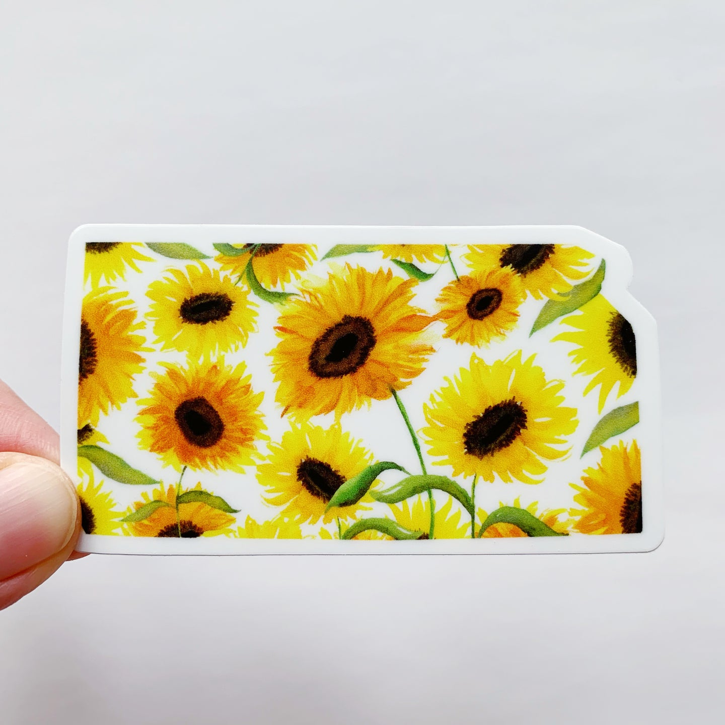 Kansas State Watercolor Sunflowers Sticker Decal