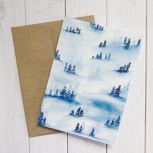 Notecard - Blue Forest