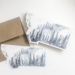 Notecard - Montana State - Forest, Gray