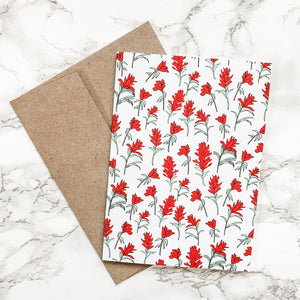 Notecard - Indian Paintbrush Wildflower