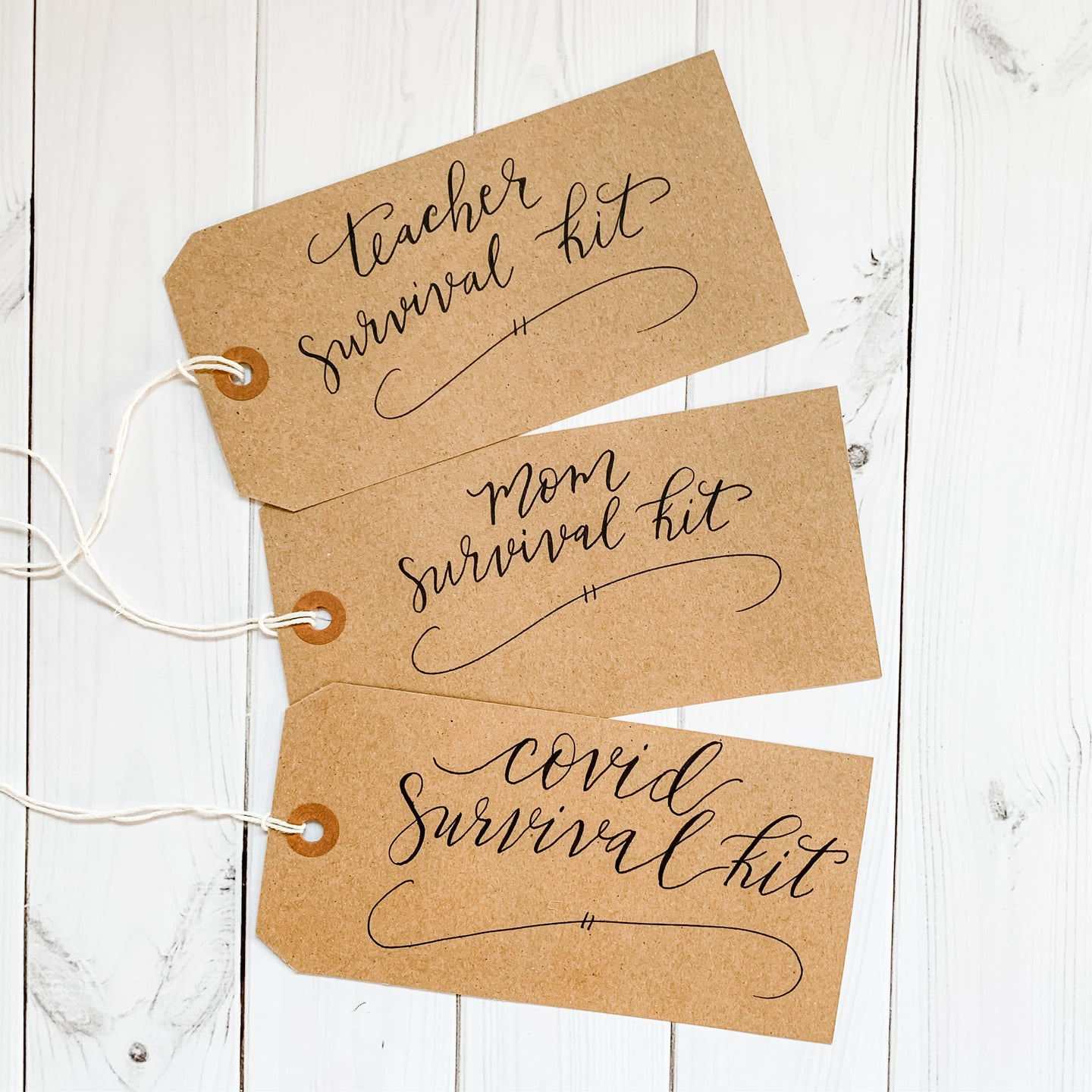 Hand written gift tag for Holiday Gift Sets