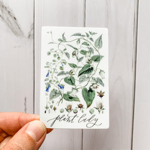Plant Lady Botanical Sticker Decal