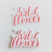 Wildflower Coral Hand Lettered Sticker Decal