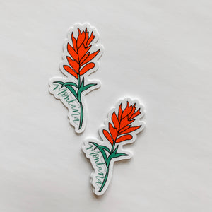 Montana Indian Paintbrush Flower State Sticker Decal