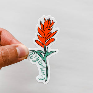 Wyoming Indian Paintbrush Flower State Sticker Decal