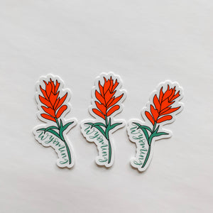 Wyoming Indian Paintbrush Sticker Decal