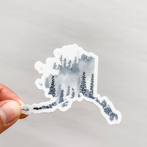 Alaska State Forest Gray Sticker Decal