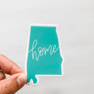 Alabama State Home Mint Green Sticker Decal