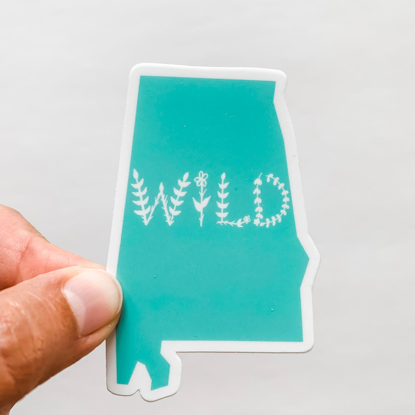 Alabama State Wild Mint Green Sticker Decal