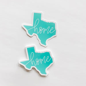 Texas State Home Mint Green Sticker Decal