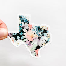 Texas State Floral Black Sticker Decal
