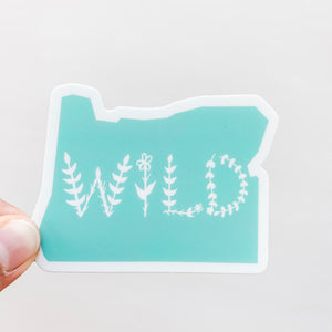 Oregon State Wild Mint Green Sticker Decal