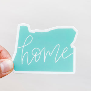 Oregon State Home Mint Green Sticker Decal