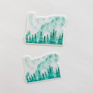 Oregon State Forest Green Sticker Decal