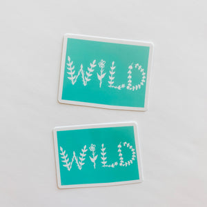 Colorado State Wild Mint Green Sticker Decal