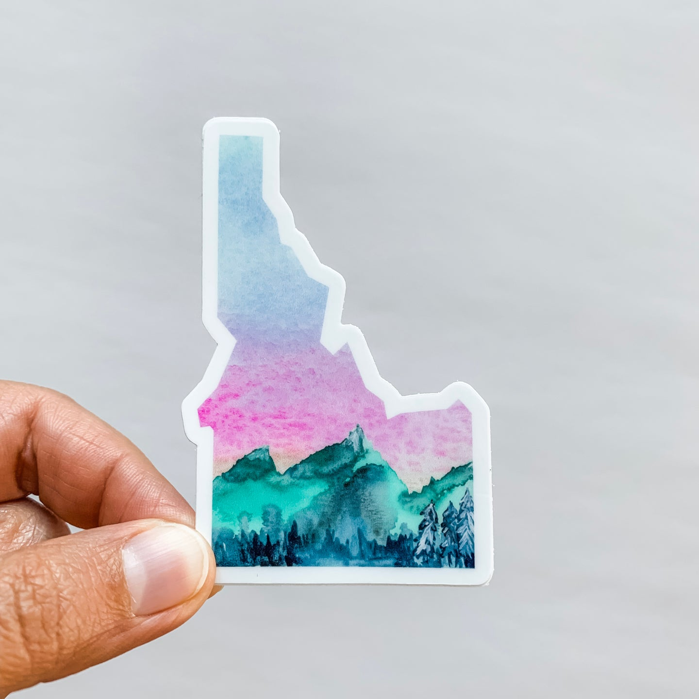 Idaho State Mountains Sticker Decal