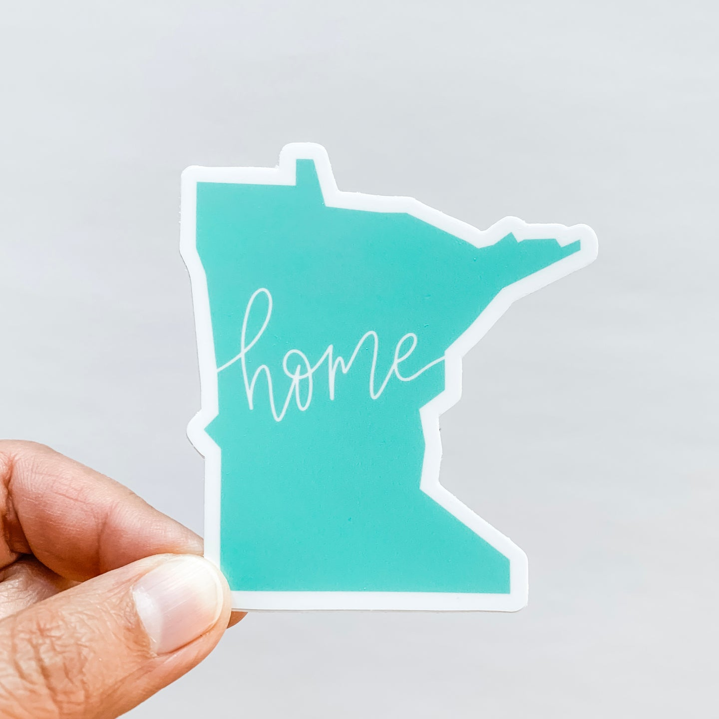 Minnesota State Home Mint Green Sticker Decal