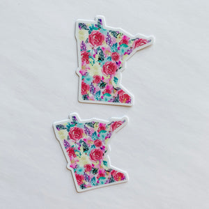 Minnesota State Floral Bright Sticker Decal