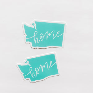 Washington State Home Mint Green Sticker Decal