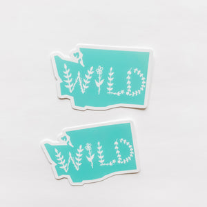 Washington State Wild Mint Green Sticker Decal