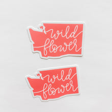 Washington State Wildflower Coral Sticker Decal