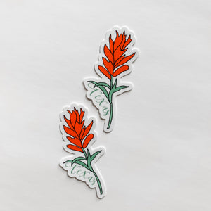 Texas Indian Paintbrush Flower State Sticker Decal