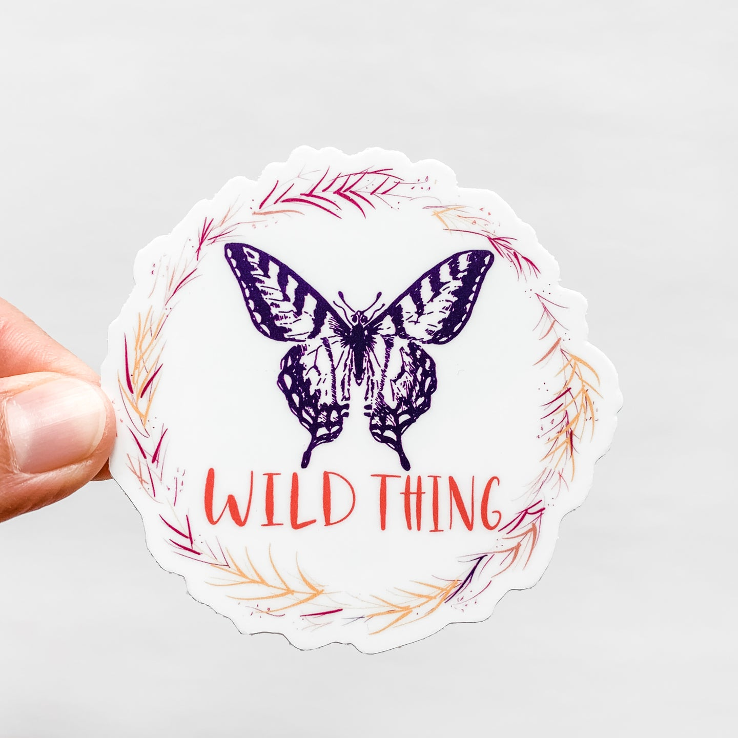 Wild Thing Butterfly Sticker Decal