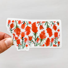 Montana Watercolor Indian Paintbrush Sticker Decal