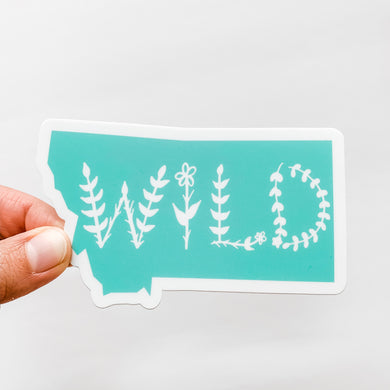 Montana State Wild Mint Green Decal Sticker