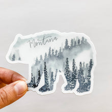 Montana State Forest Bear Gray Sticker Decal