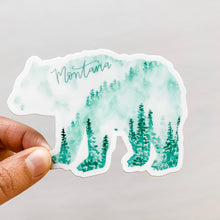 Montana State Forest Bear Green Sticker Decal