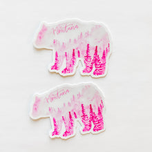 Montana State Forest Bear Pink Sticker Decal