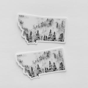 Montana State Forest Black Sticker Decal