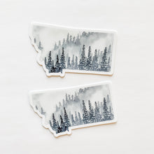 Montana State Forest Gray Decal Sticker