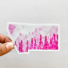 Montana State Forest Pink Decal Sticker