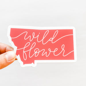 Montana State Wildflower Coral Sticker Decal